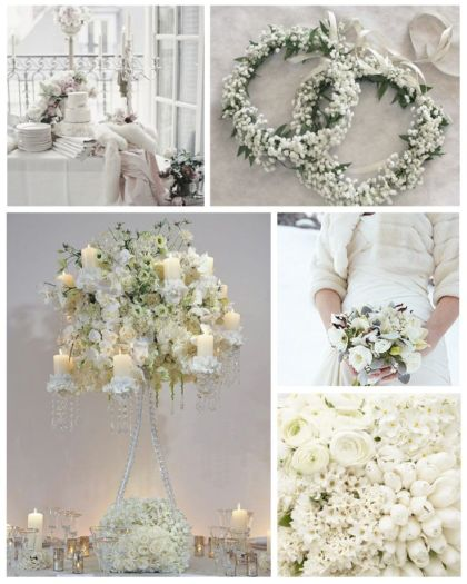 Tema Matrimonio Total White : Tendencia en bodas total white